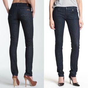 7FAM Roxanne Dark Skinny Dark Jeans